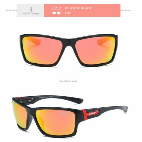 DUBERY Sport Polarized Sunglasses Outdoor Fishing Driving Square Mens Eyewear