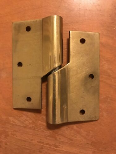 Pair of Victorian Door Lift Over Carpet Hinge Right Hand Solid Brass