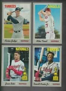 2019-Topps-Heritage-Short-Print-SP-Lot-You-Pick-from-401-500-Trout-Acuna