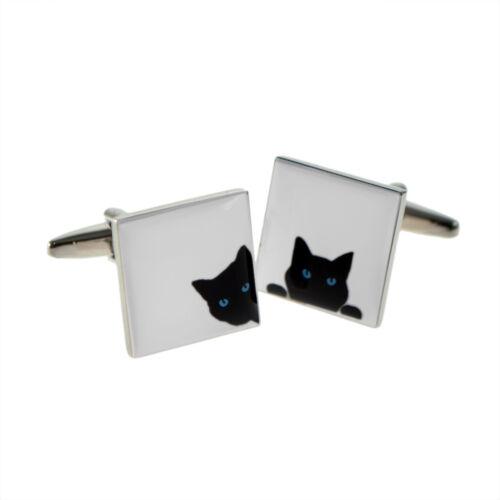 Mirar Black Cat Gemelos espías Gatito propietario criador Amante Regalo De Cumpleaños