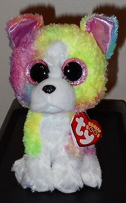 "6/"" TY Beanie Boo Isla Multicolor Dog With Tag Claires Exclusive 2018 Plush Toys"