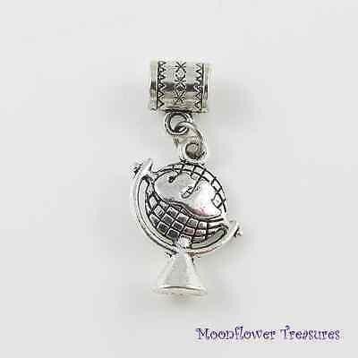 World Globe Charm fit European Charm Bracelet