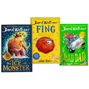 David-Walliams-3-Book-Collection-Bad-Dad-Fing-The-Ice-Monster