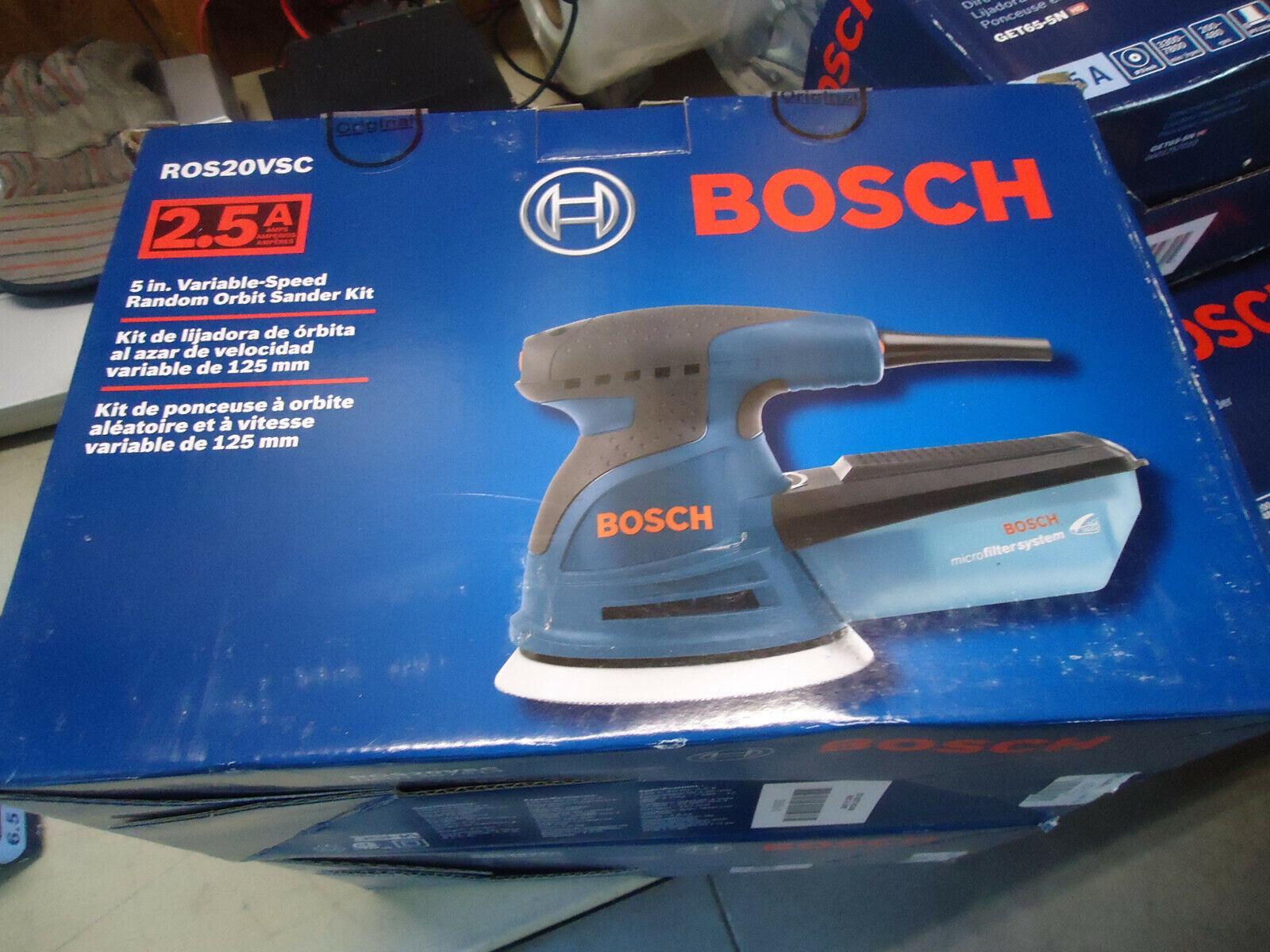 Bosch ROS20VSC Random Orbit Sander with Carrying Bag 5-Inch Blue