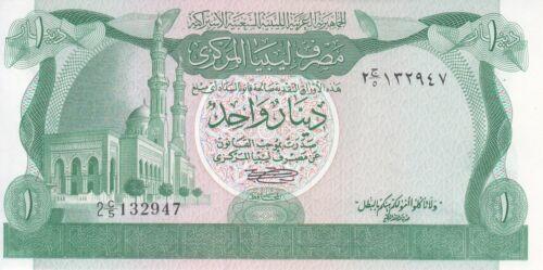 LIBYA 1 DINAR 1981 P-44a SIG//SHERLALA UNC *//*