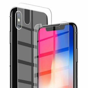 3D-Schutzfolie-fuer-iPhone-X-XS-Vorne-plus-Hinten-Schutzglas-Hartglas