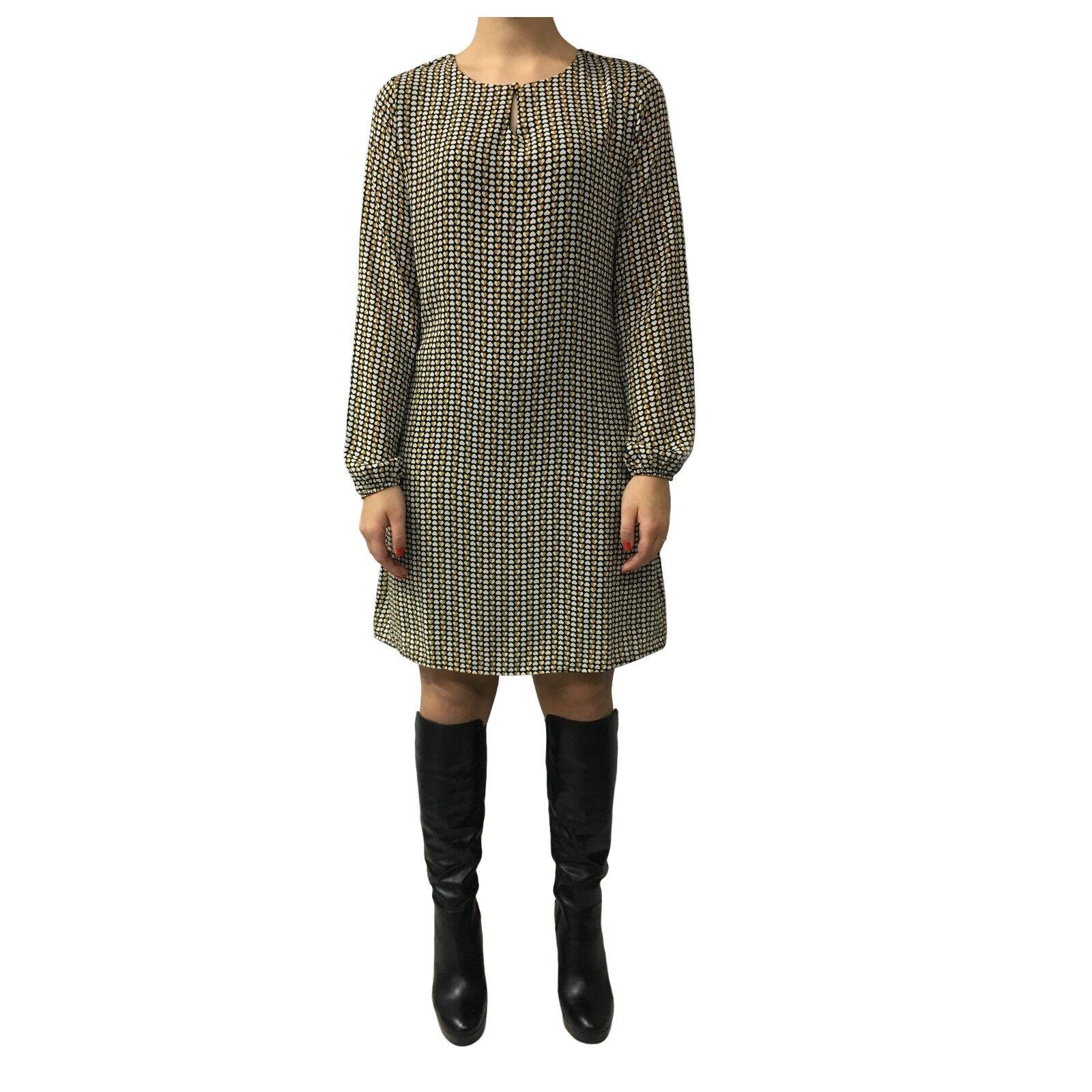 LA FEE MARABOUTEE Kleid Frau schwarz Creme gelb gelb gelb mod FB1305 MADE IN ITALY | Lass unsere Waren in die Welt gehen  | Discount  6e5eab