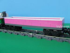 NEW-Lego-City-Large-Pink-Cargo-Train-Custom-Built-w-New-Lego-Bricks-Parts
