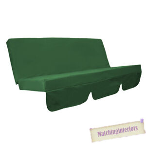 Green Water Resistant Bench Cushion For Swing Hammock