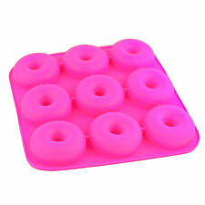 Silicone Donut Baking Pan Mold 9 Cavity Non-Stick For Microwave Freezer Oven