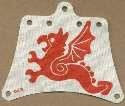 LEGO - White Cloth Sail 12 x 10 10 10 with Red Flying Dragon Pattern 2a76d1