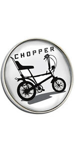 Raleigh Chopper Clutch Pin Badge Choice of Gold//Silver