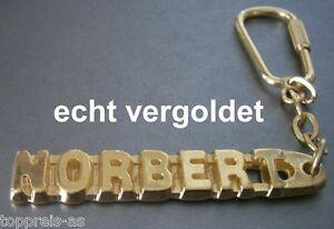 Freundschaftlich Edler SchlÜsselanhÄnger Norbert Vergoldet Gold Name Keychain Weihnachtsgeschenk Senility VerzöGern Büro & Schreibwaren