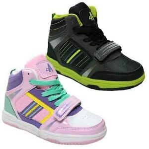 NEW-BOYS-GIRLS-HI-HIGH-TOPS-SKATE-TRAINERS-BASEBALL-SCHOOL-DANCE-SHOES-SIZES-8-2