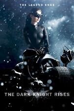 BATMAN THE DARK KNIGHT RISES ~ CATWOMAN CYCLE 27x39 MOVIE POSTER Anne Hathaway
