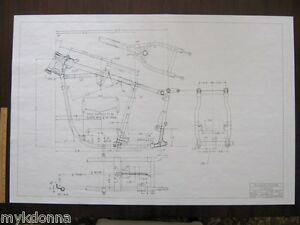 Marvelous Harley Davidson Pan Head 1958 64 Frame Blueprint Drawing Poster Wiring Digital Resources Cettecompassionincorg