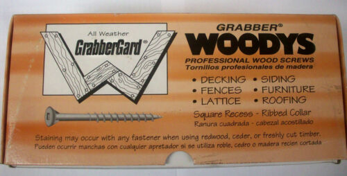 "5 Lbs. GRABBER Exterior Deck Wood Screws Type 17 Square Drive 9 x 2-1//2/"""
