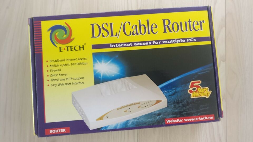 Router, E-tech, Perfekt