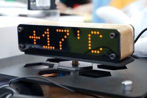 Smart-Digital-Alarm-Clock-LED-Weather-Rates-Night-Interior-Handmade-Craft