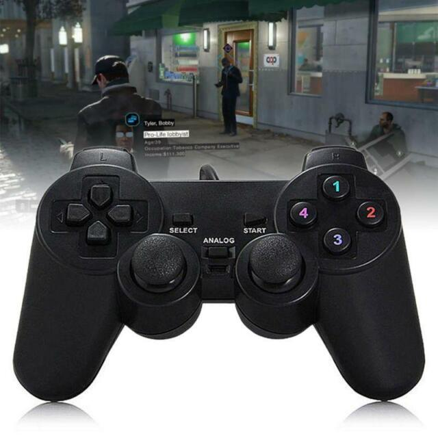USB Wired Gamepad Single/Double Vibration Game Controller for PC Computer New