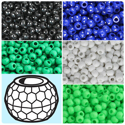 Pony Beads 6mmx9mm 720//pkg-opaque Lime