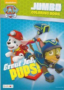great job, pups paw patrol jumbo coloring book kids nickelodeon w 805219399385 | ebay