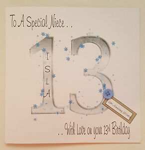 Image Is Loading Personalised 13th Birthday Card Niece Daughter Sister Granddaughter