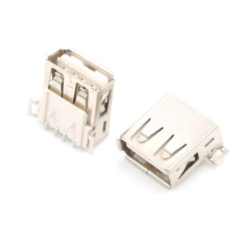 10pcs USB Type A 180 Degrees Socket Female Solder Plug Adapter Connector Tw