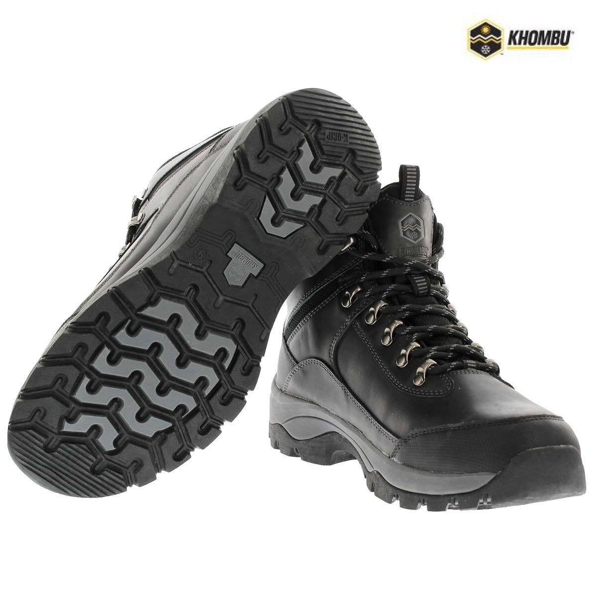 Mannens Khombu Summit Leer WaterBesteendig Hiking wandelen Trail Mid laarzen schoenen afmeting