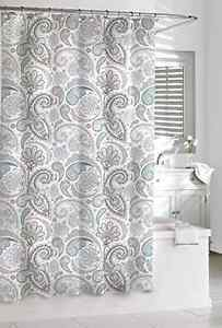 Image Is Loading Sophisticated Spa 100 Cotton Waffle Shower Curtain Blue