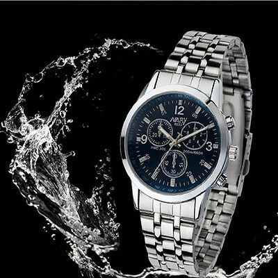 Luxury Mens Wrist Watch Womens Waterproof Stainless Steel Quartz Watch Outlet