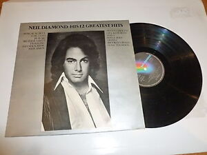 NEIL-DIAMOND-His-12-Greatest-Hits-1974-UK-12-track-vinyl-LP-compilation