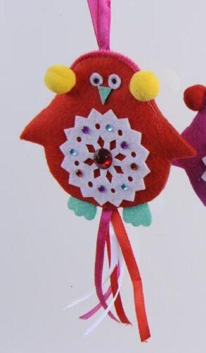 Colgadores pájaro fieltro vogelhänger árbol joyas navidad geschenkhänger