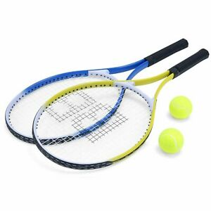 cd1beec457 Pro Baseline 2 Aluminium Tennis Rackets Racquets 2 Balls in Carry Bag  BGG1140