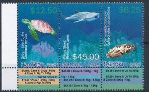 Samoa 2015 turtles marine life fish birds set MNH