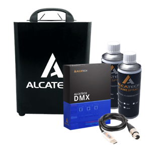 AlcaTech Dual Flame Projector Aerosol Fire inkl. 2 Cans DMX Software