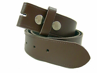 NEW MENS WOMANS SNAP ON BELT REAL LEATHER GENUINE LEATHER MADE IN ENGLAND