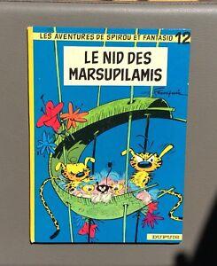 Spirou-et-Fantasio-n-12-Le-nid-des-Marsupilamis-Dupuis-1972-Re-dos-rond