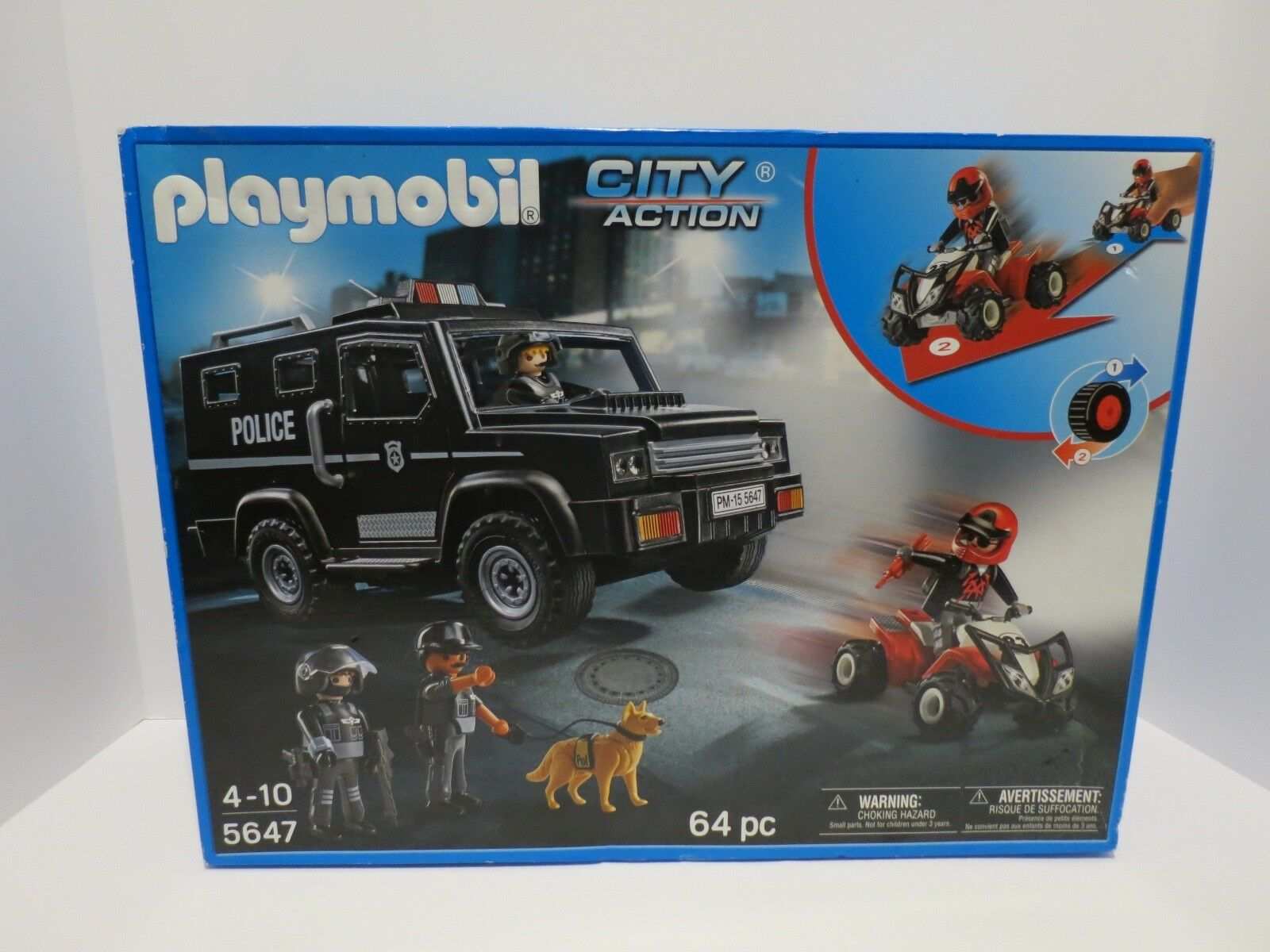 Playmobil 5647 City Action Police Special Forces Tactical Tactical Tactical Unit New Sealed c31c7f