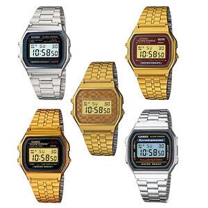 Casio-Uhr-A158WA-A159WGEA-A168WA-Retro-Digitaluhr-Unisex-Vintage-Style-NEU-amp-OVP