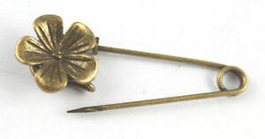 5Pcs-Antiqued-bronze-cute-flower-Safety-Pin-Brooch-A15552B