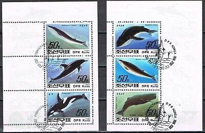 Levering Vellen 1992 3354-3359 En Blok 262 Walvissen Gestempeld Cat Waarde € 5