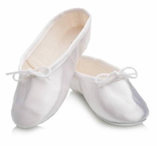 Katz Dancewear satin blanc semelle en caoutchouc Ballet//demoiselle d/'honneur Chaussure-Adulte UK 3 #10D626