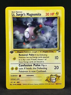Pokemon TCG 1st Edition Gym Heroes Common Card Selection