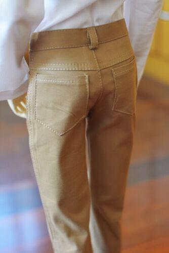 Dark Khaki Long Pants Outfits For Male 1//4 17in 44cm BJD MSD AOD AS DOLL