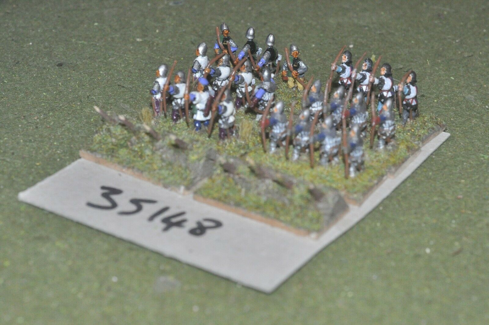 15mm medieval   english - archers 24 figures - inf (35148)