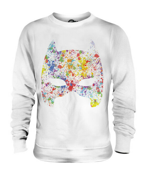 MASK SPLATTER UNISEX SWEATER  TOP GIFT COLOURFUL SPLATTER