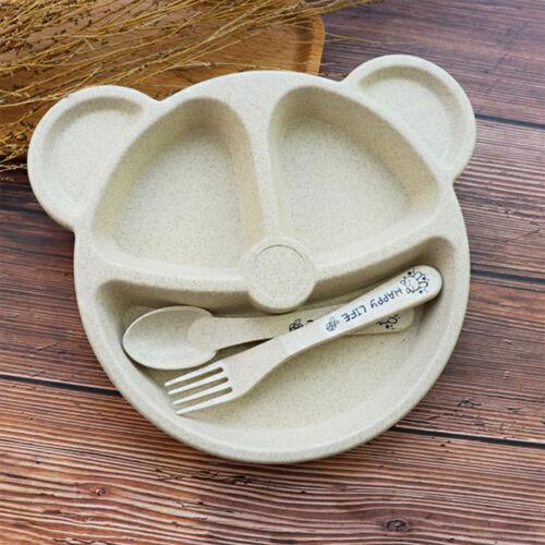 Pretty Feeding Food Tableware Lovely Panda Kid Dishes Baby Eating Dinnerware Set