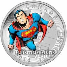 Canada 2014 Iconic Superman Classic Comic Book Cover $15 Silver Color Proof