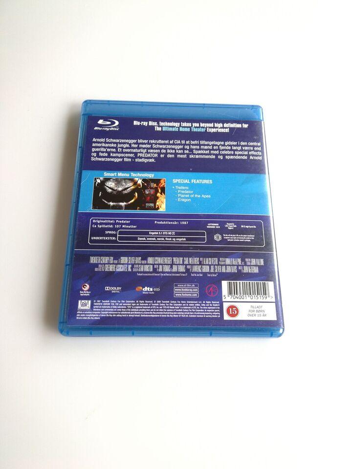 Predator, instruktør John McTiernan, Blu-ray